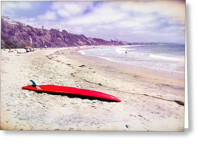 Red Board Greeting Card by Peter Tellone