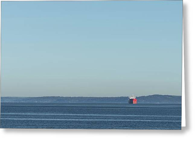 Red Boat 1 Greeting Card