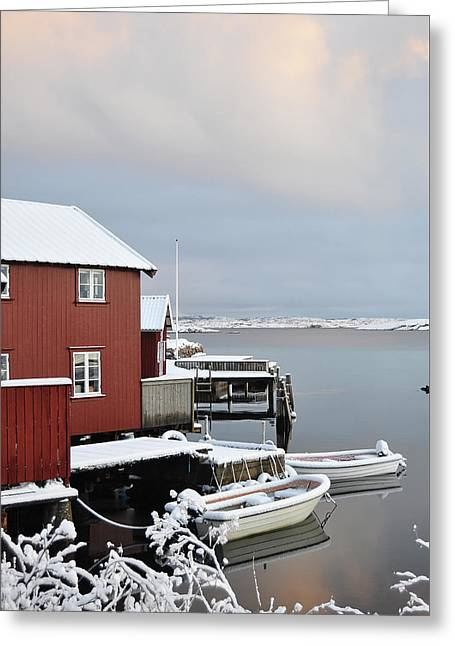 Boathouses Greeting Card