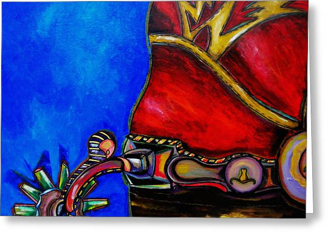 Red Boot Greeting Card by Patti Schermerhorn