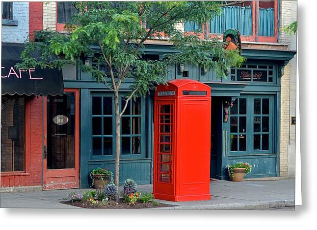 Red Box Greeting Card by Frozen in Time Fine Art Photography