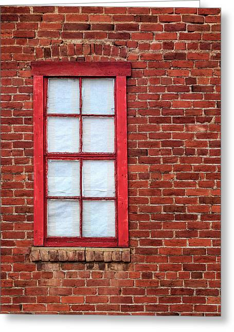 Greeting Card featuring the photograph Red Brick And Window by James Eddy