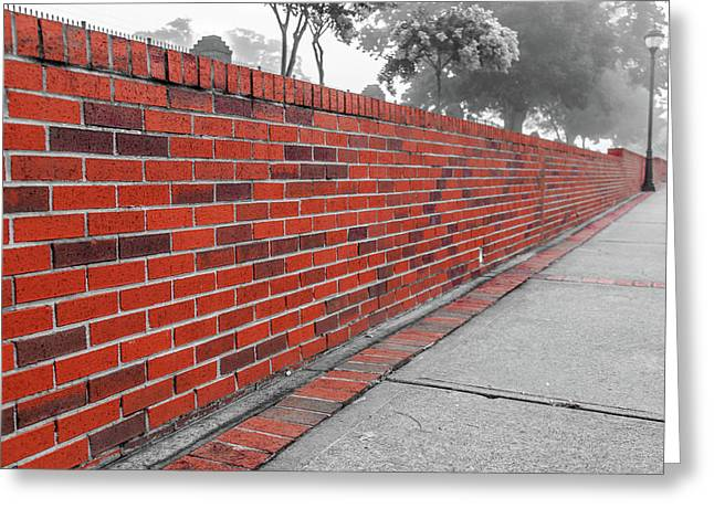 Red Brick Greeting Card