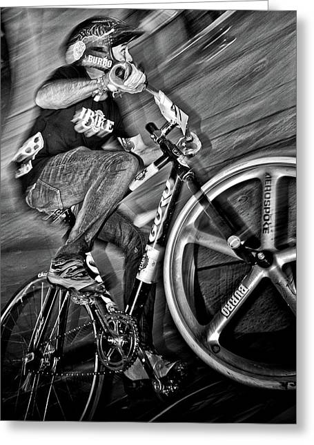 Red Bull Mini Drome Race Day Toronto Canada Greeting Card by Brian Carson