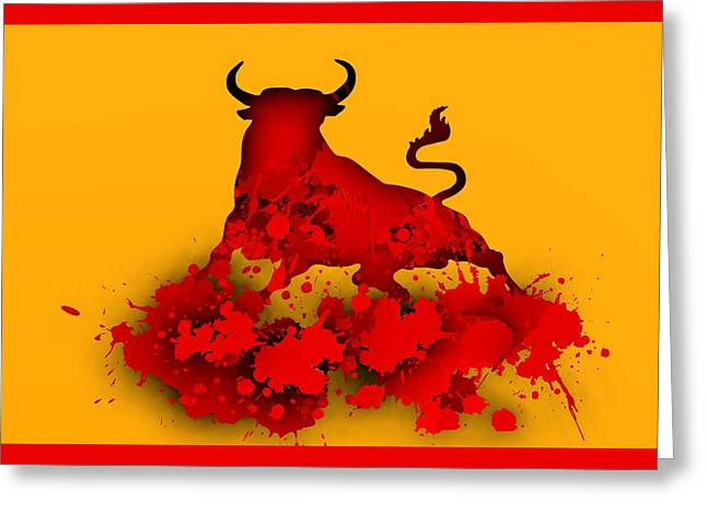 Red Bull.1 Greeting Card