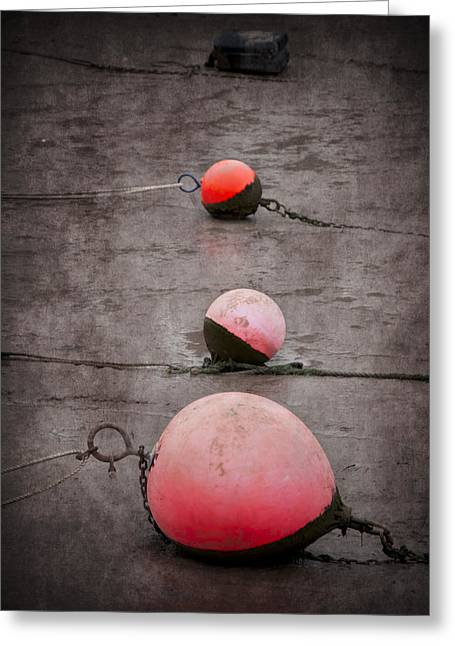 Red Buoys  Greeting Card by Svetlana Sewell