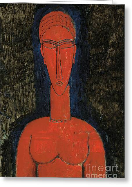 Red Bust, Caryatid, 1913 Greeting Card