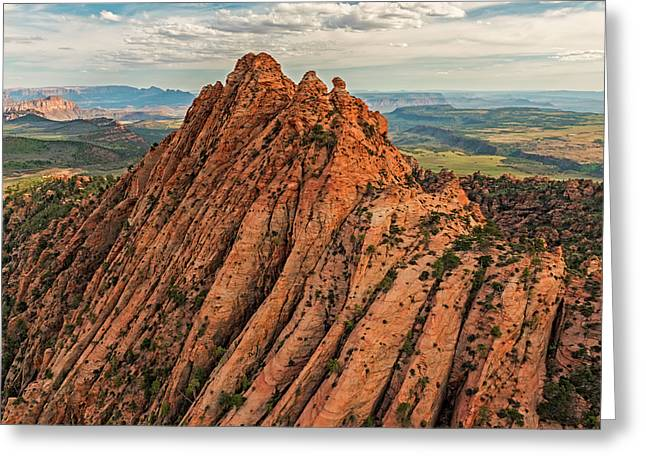 Red Butte From The Air Greeting Card