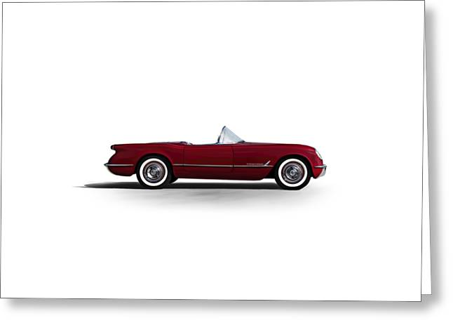 Red C1 Convertible Greeting Card by Douglas Pittman