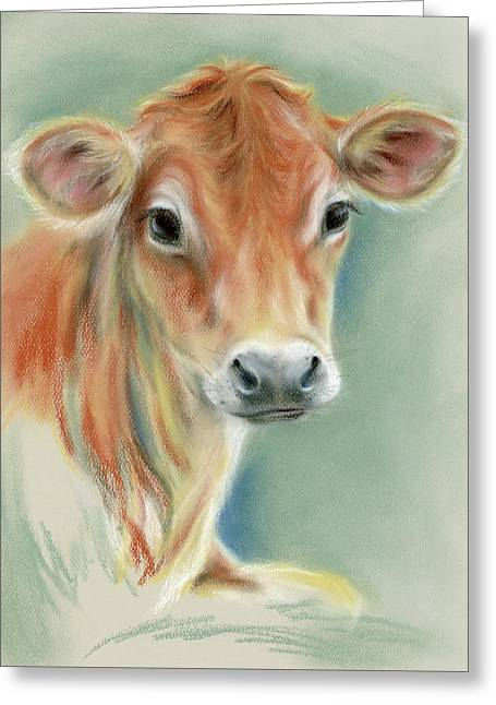 Red Calf Portrait Greeting Card