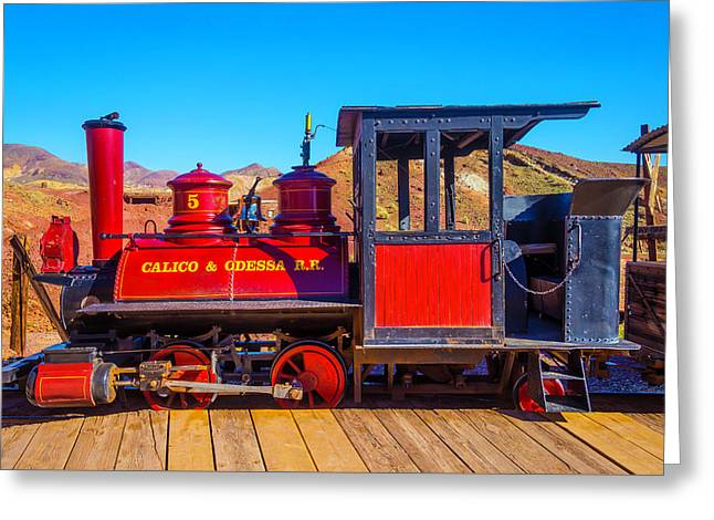 Red Calico Odessa Rr Greeting Card by Garry Gay