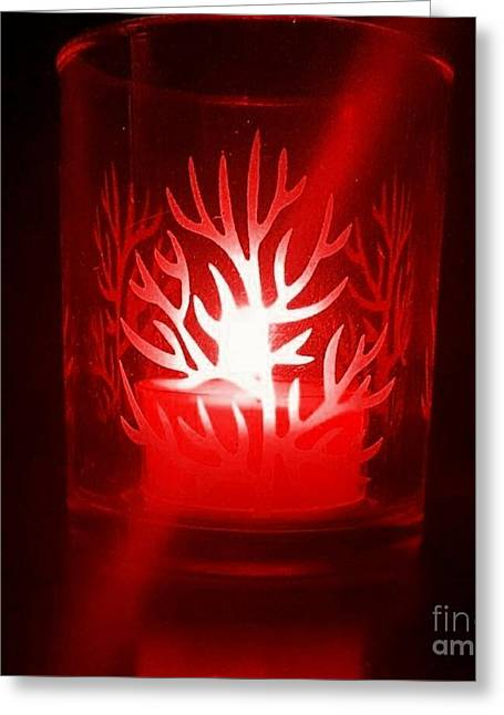 Red Candle Light Greeting Card