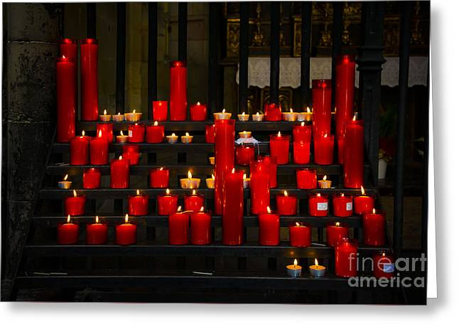 Red Candles Greeting Card by Svetlana Sewell