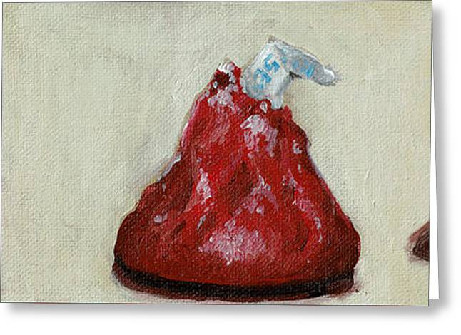 Red Candy Greeting Card by Robin Wiesneth