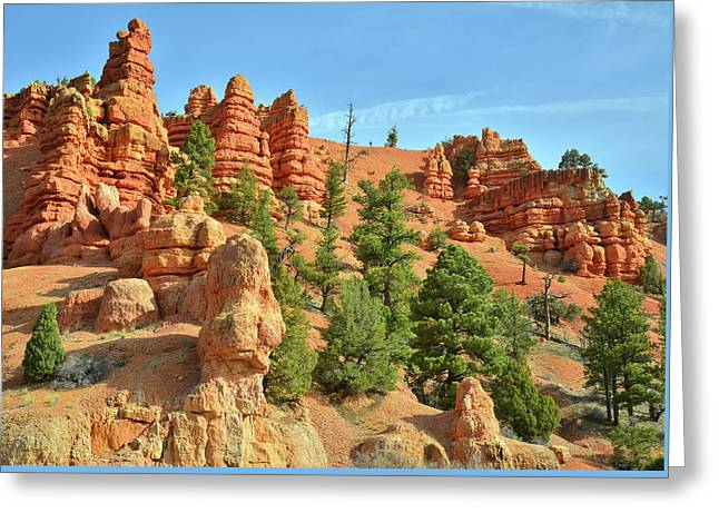 Red Canyon Highway 12 Greeting Card