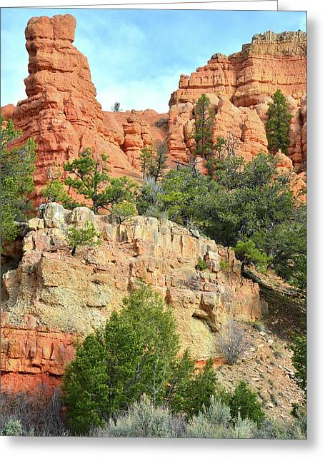 Red Canyon Roadside Greeting Card
