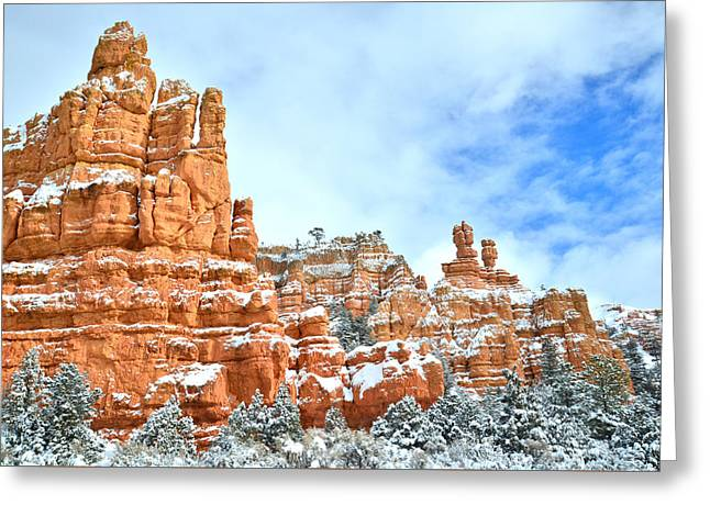 Red Canyon Scenic Drive Greeting Card