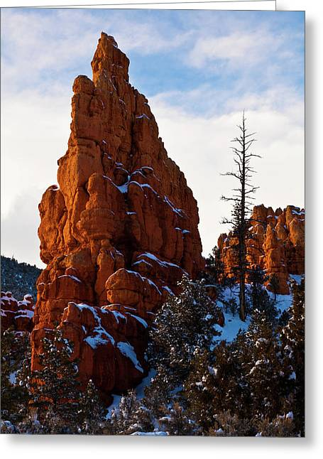 Red Canyon Sentinel Greeting Card by James Marvin Phelps