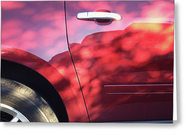 Red Car Abstract Greeting Card