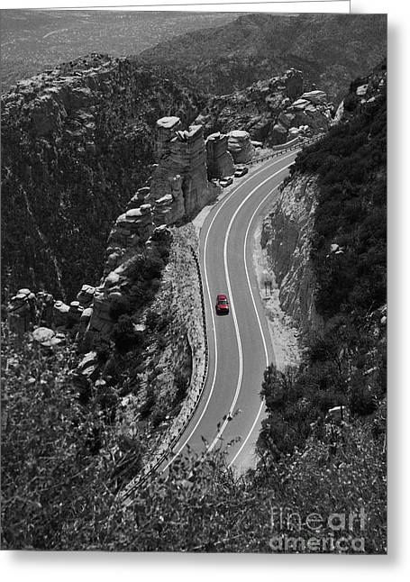 Red Car Greeting Card by Jim Wright