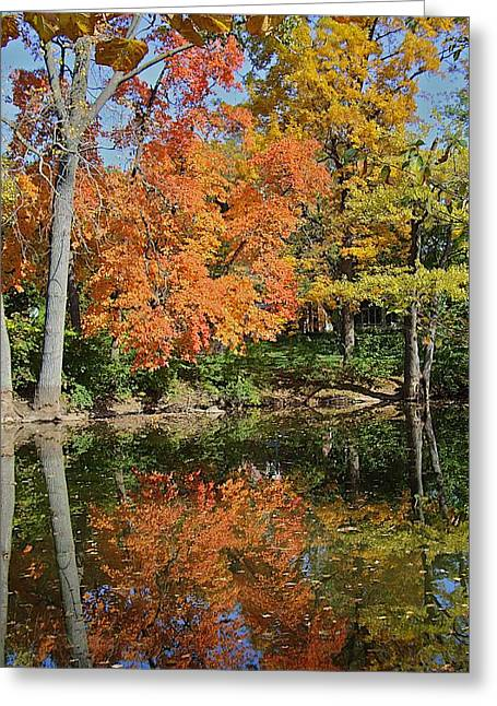 Joseph Yarbrough Greeting Cards - Red Cedar Banks Greeting Card by Joseph Yarbrough
