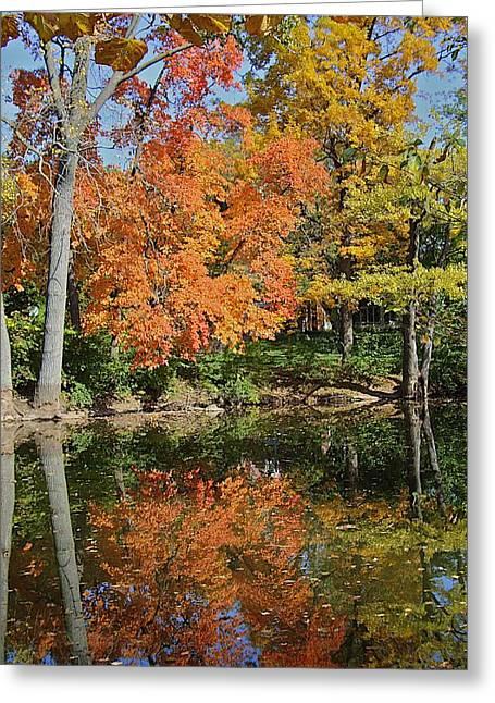 Red Cedar Banks Greeting Card