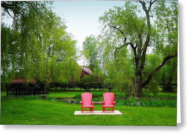 Red Chair Challenge Greeting Card
