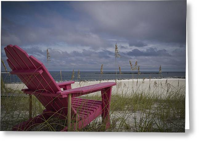 Red Chair View Greeting Card