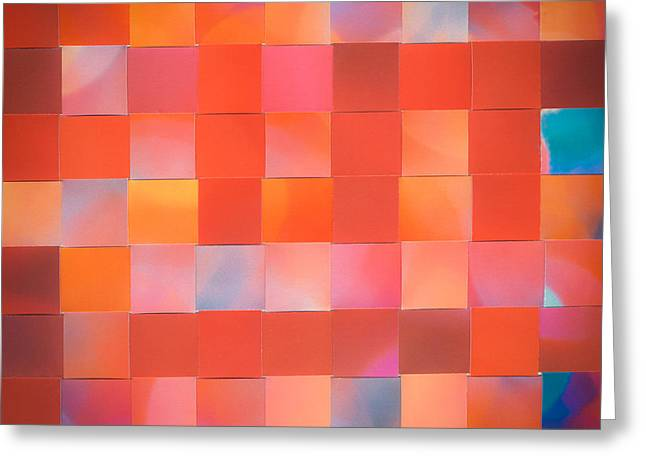 Greeting Card featuring the mixed media Red Check by Jan Bickerton