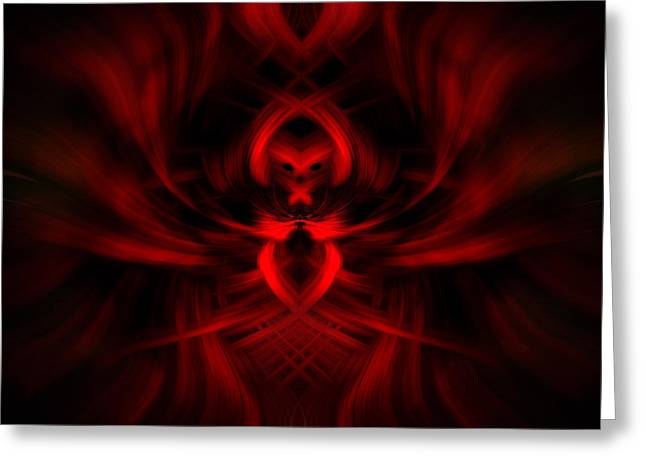 Greeting Card featuring the photograph RED by Cherie Duran