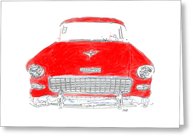 Red Chevy T-shirt Greeting Card