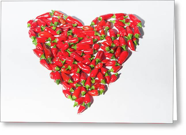 Red Chillie Heart II Greeting Card