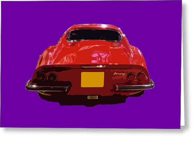 Red Classic Emd Greeting Card