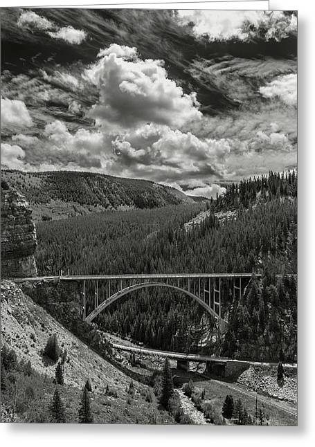 Red Cliff Bridge Hwy 24 Greeting Card by John Magor