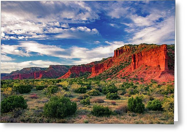 Red Cliffs Of Caprock Canyon 2 Greeting Card