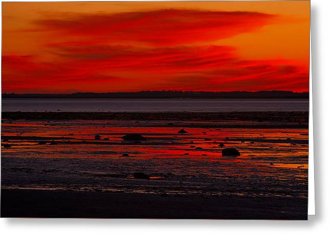 Red Clouds At Nightfall Greeting Card by Irwin Barrett