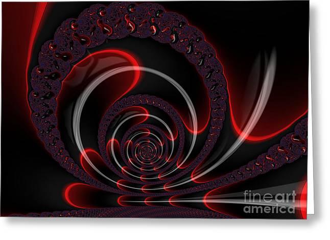 Red Cobra Greeting Card