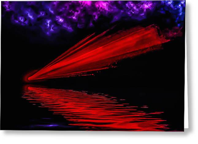 Red Comet Greeting Card by Naomi Burgess
