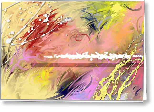 Red Convertable Greeting Card by Snake Jagger