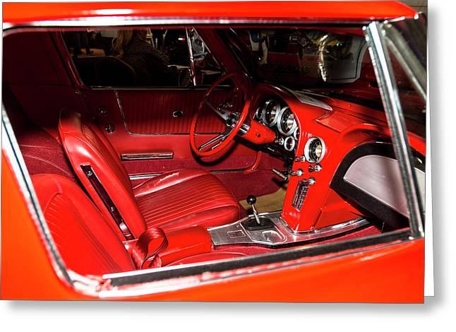 Red Corvette Stingray Greeting Card