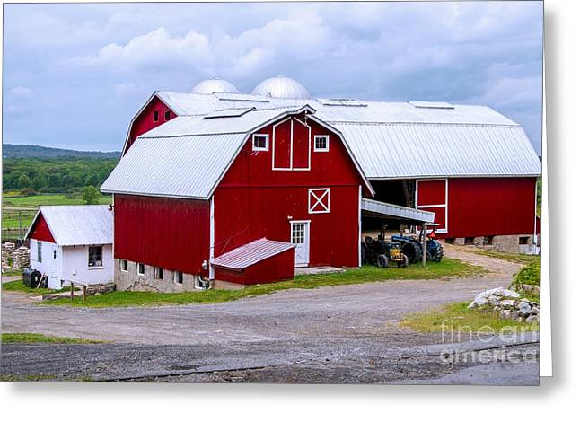 Red Country Barn Greeting Card by Anthony Sacco