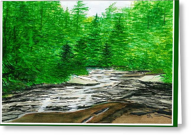 Red Creek Greeting Card