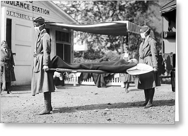 Red Cross Influenza Nurses Greeting Card