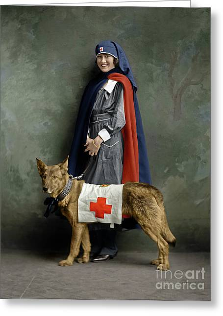 Greeting Card featuring the photograph Red Cross Nurse by Granger