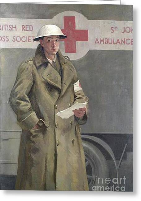 Red Cross Officer In France Greeting Card