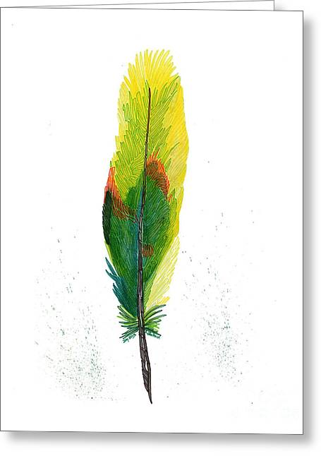 Red Crowned Parrot Greeting Card