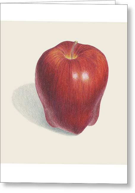 Red Delicious Apple  Greeting Card by Carlee Lingerfelt