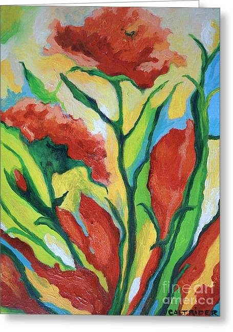 Red Delight Greeting Card by Alison Caltrider