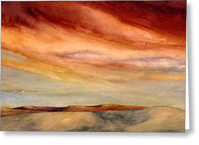 Red Desert Greeting Card by Nancy  Ethiel