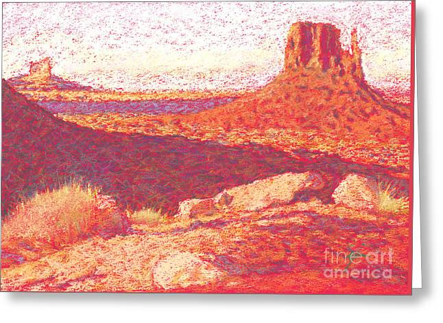 Red Desert Greeting Card by Suzie Majikol Maier